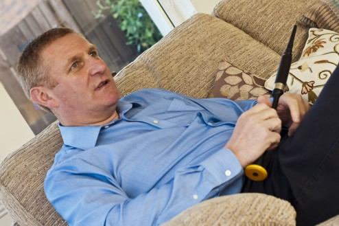 Stuart Samson MBE during his interview for Piper's Persuasion